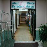 mall entrance to beach