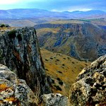 View from nearby road - Arbel Cliffs