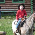"""""""Rough rider"""" on his horse"""