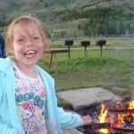 Campfire and marshmallow roast