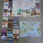 Maps and leaflets we got from the hotel