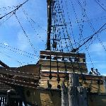 Get very close to the Mayflower