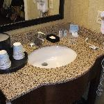 Small bathroom counter