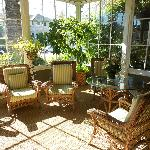 Sunroom - can have breakfast here is dining area full