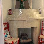 fireplace in Las Flores