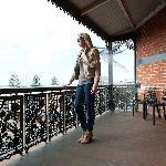 Top floor balcony sea views