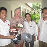 Ivory Resort Managemant team and staff making mom's birthday very special! Thank you!
