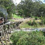Puffing Billy over the scenic bridge