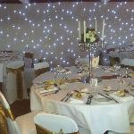 Starlight backdrop and table setting