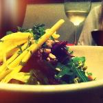 Thai mango salad and Crispy Duck.