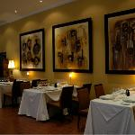 Elegant decor inside the restaurant