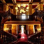The grand staircase entrance at Rossington Hall