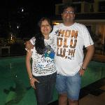 Pool Side Pic after DINNER