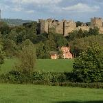 View of the Ludlow Castle from the Cliffe