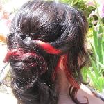 Bridal w/ fire red