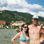 Swimming in the Danube with Bernard our tour guide