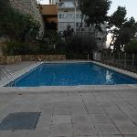 Pool at apartamentos Lido.