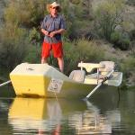 Owner Chris Taylor, dry fly fishing on a calm night on the San Juan