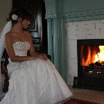 By the fire before our wedding