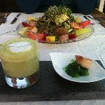 Bärlauchsuppe & Salat