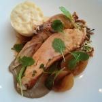 Milawa Organic Chicken, Cauliflower, Jerusalem Artichoke, Wild Rice And Bread Pudding