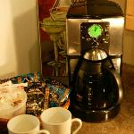 Enjoy a complimentary coffee