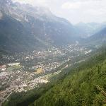 Chamonix Township viewed from 1st cablecar