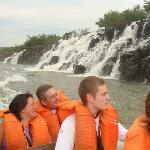 Visitando los saltos embarcados
