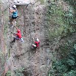 Adventure tour- rock climbing up the canyon