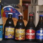 A few of the Belgian beers available