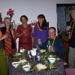 Fête de Dipawali dans la salle à manger