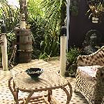 Our private outside sitting area.