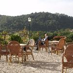 Great terrace quited... wifi all over the place