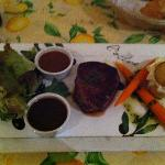 Eye Fillet with Pepper & Blue Cheese Sauces