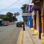 View down street toward beach