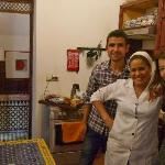 With Omar & Fatia in the cosy kitchen