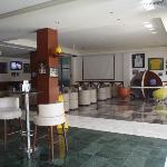 Sports bar open 24/7 food and drinks available, internet access, tons of TV's and pool tables
