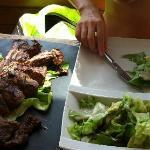 Very big steak