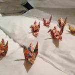 Origami in the room