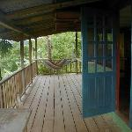 Cabin deck and hammock