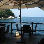 View out into the water from our table