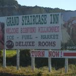 hotel billboard across the road