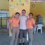 Inside classroom with Xochil and Lucia