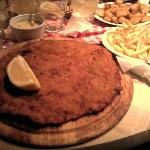 One of the biggest snitzels I have ever seen/eaten...could not finish it