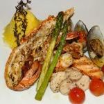 Seafood  with asparagus -Blue Restaurant