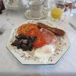 Welsh breakfast with local ingredients
