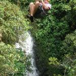 Fly over our waterfall!!