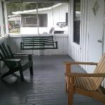 The front porch, view two. The swing was so nice!
