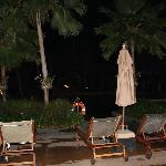 pool area @ night