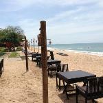 der Strand mit Resto